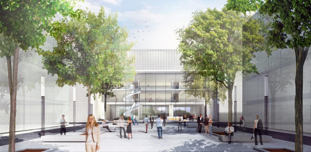 Wettbewerb Folkwang - Architekturvisualisierung  Aussen