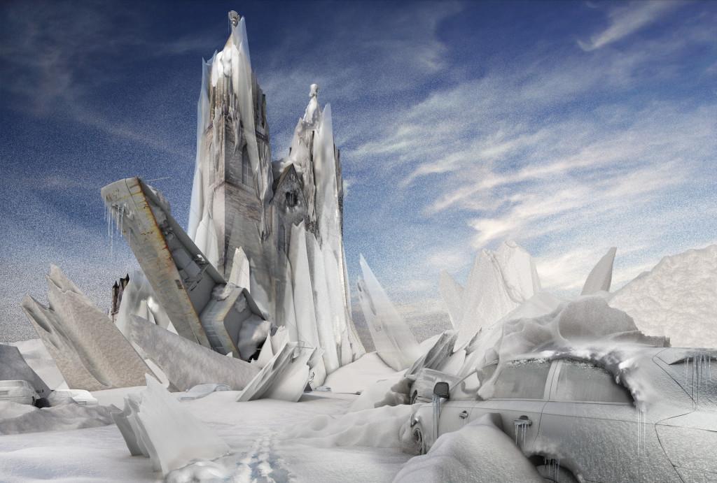 Winter Endzeit Bild Magdeburger Dom