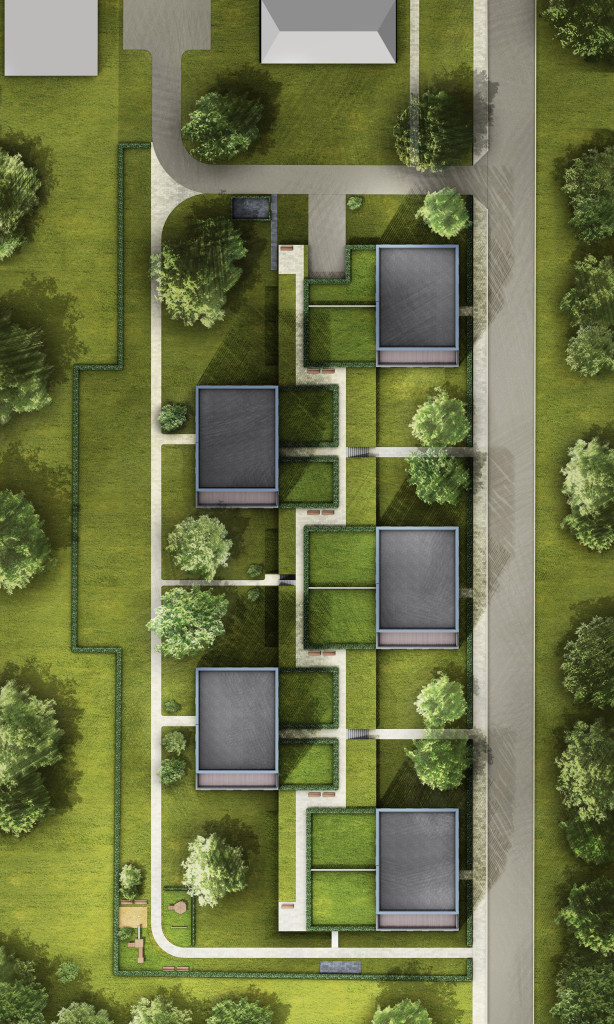 Lageplan Wohnbebauung Mehrfamiienhäuser