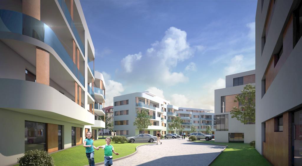 Wohnanlage - Architekturvisualisierung  Aussen
