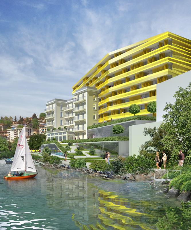 Fassade Hotel Erweiterung in Graz
