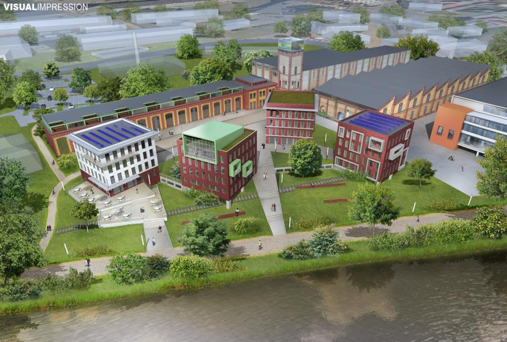 Wohnbebauung Wissenschaftshafen Magdeburg