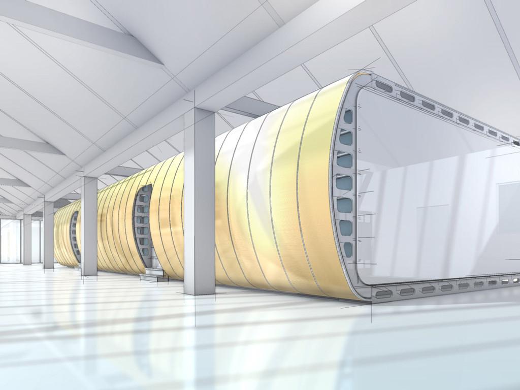 Raum in Raum Konstruktion für Bosch