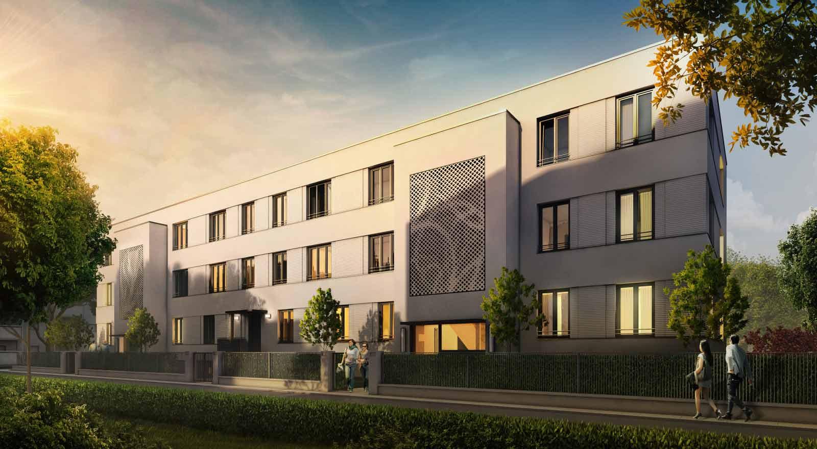 Mehrfamilienhaus in Magdeburg - Architekturvisualisierung  Aussen