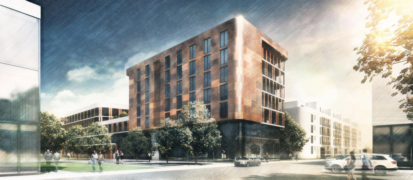 Wettbewerb Campus in Potsdam - Architekturvisualisierung  Aussen
