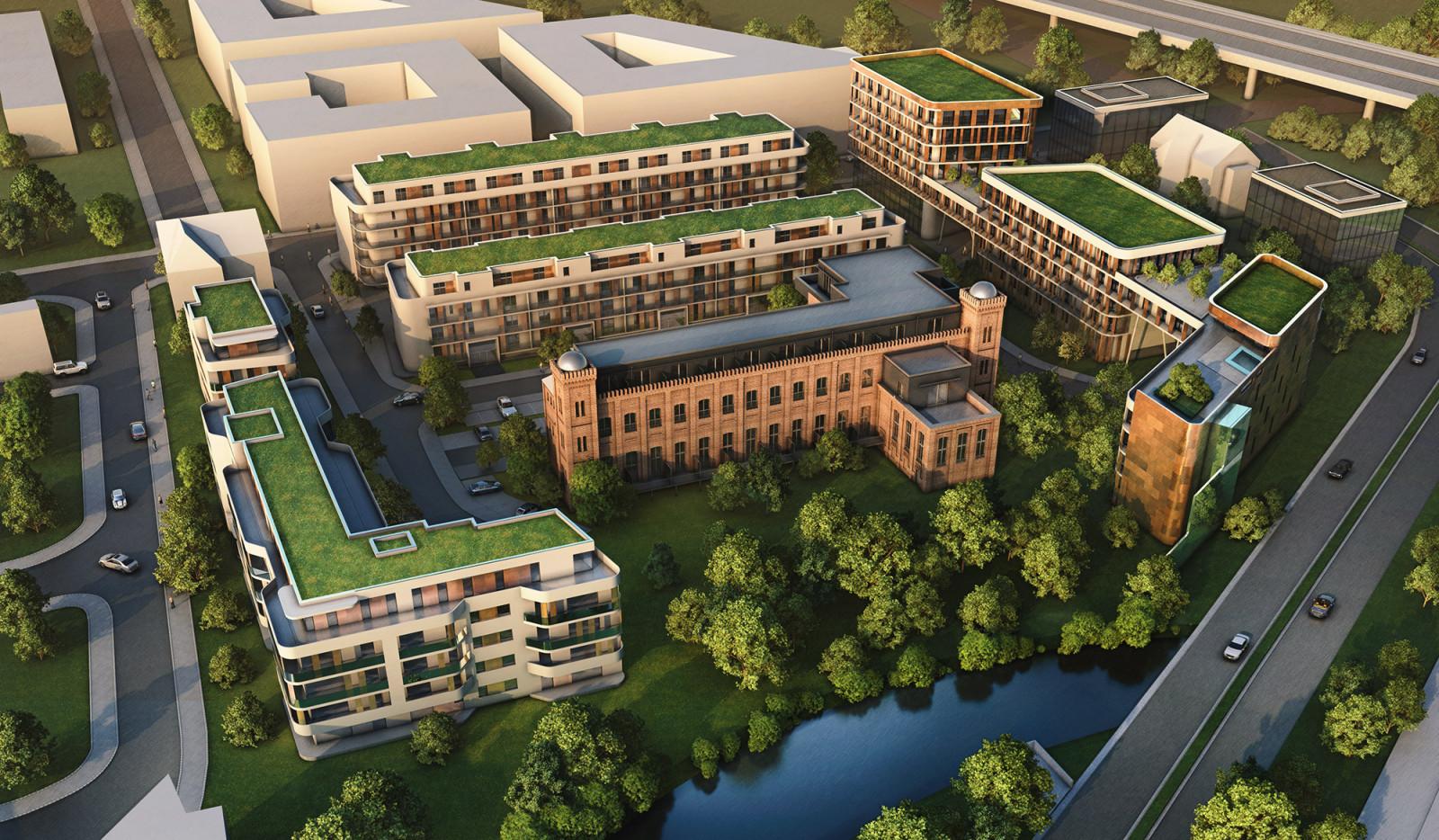 Wettbewerb Campus in Potsdam - Topview - Architekturvisualisierung  Aussen