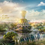 3D Visualisierung | 3D Animation - Illustration Artwork - pavillon of light