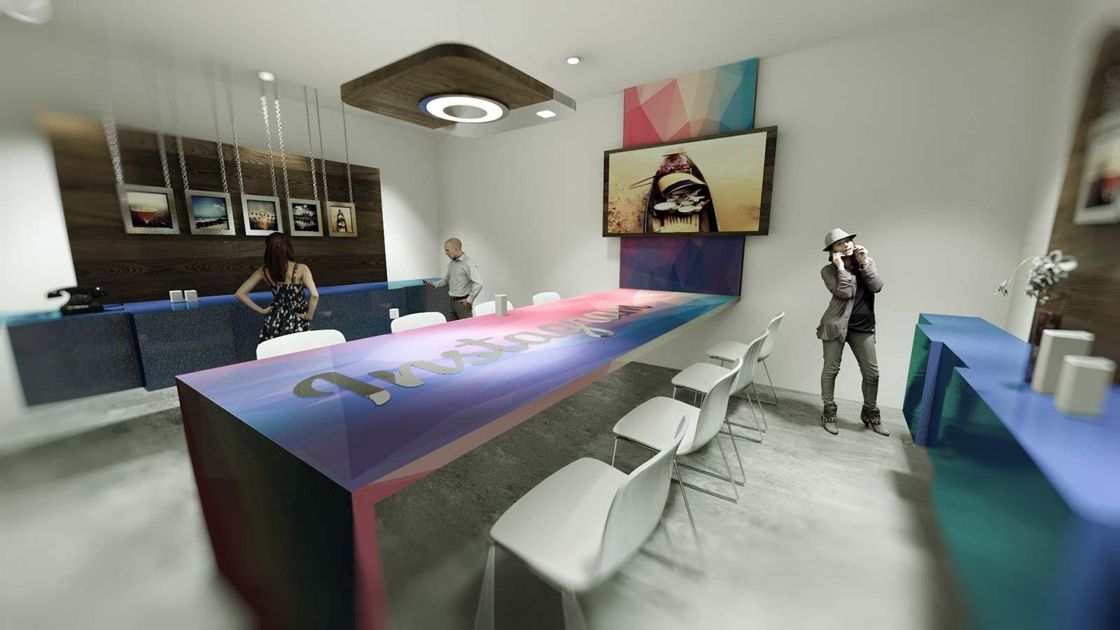 Showroom Instagram - Architekturvisualisierung Innen