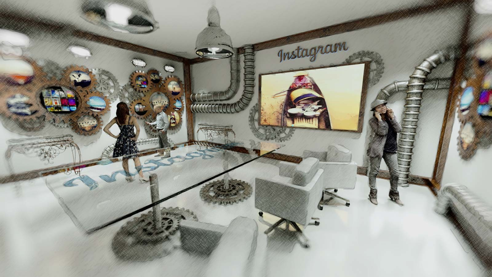 Showroom Instagram - Architekturvisualisierung Innen