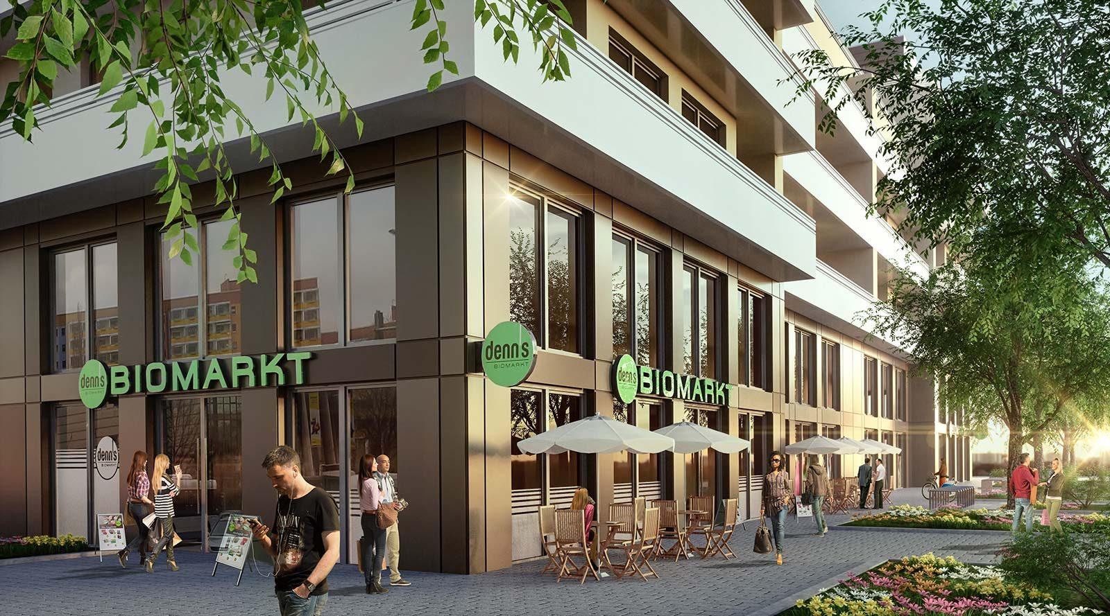 Bio Markt Potsdam - Architekturvisualisierung  Aussen