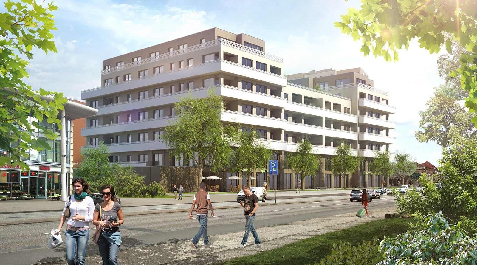 Ansicht Hauptstraße - Potsdam - Architekturvisualisierung  Aussen