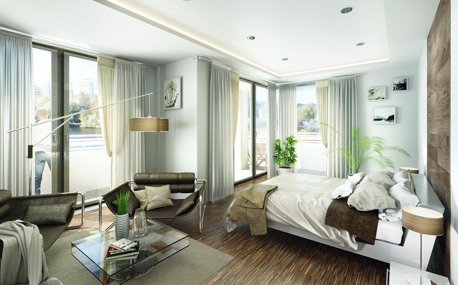Schlafzimmer in Potsdam - Architekturvisualisierung Innenraum