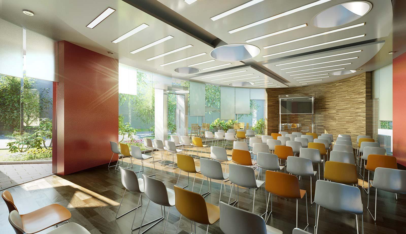 Vortragssaal - Architekturvisualisierung Innenraum