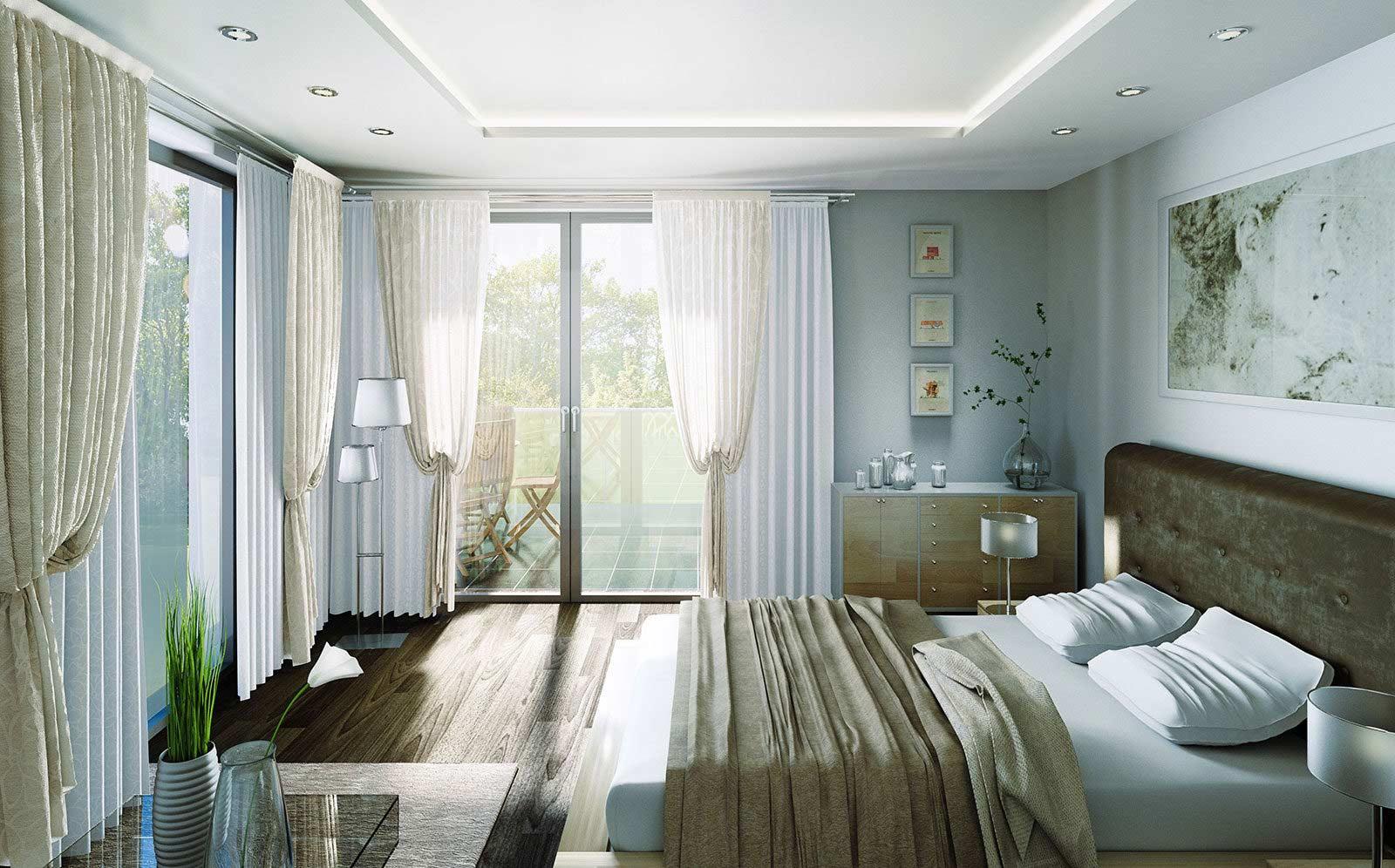 Schlafzimmer Eckwohnung - Architekturvisualisierung Innenraum