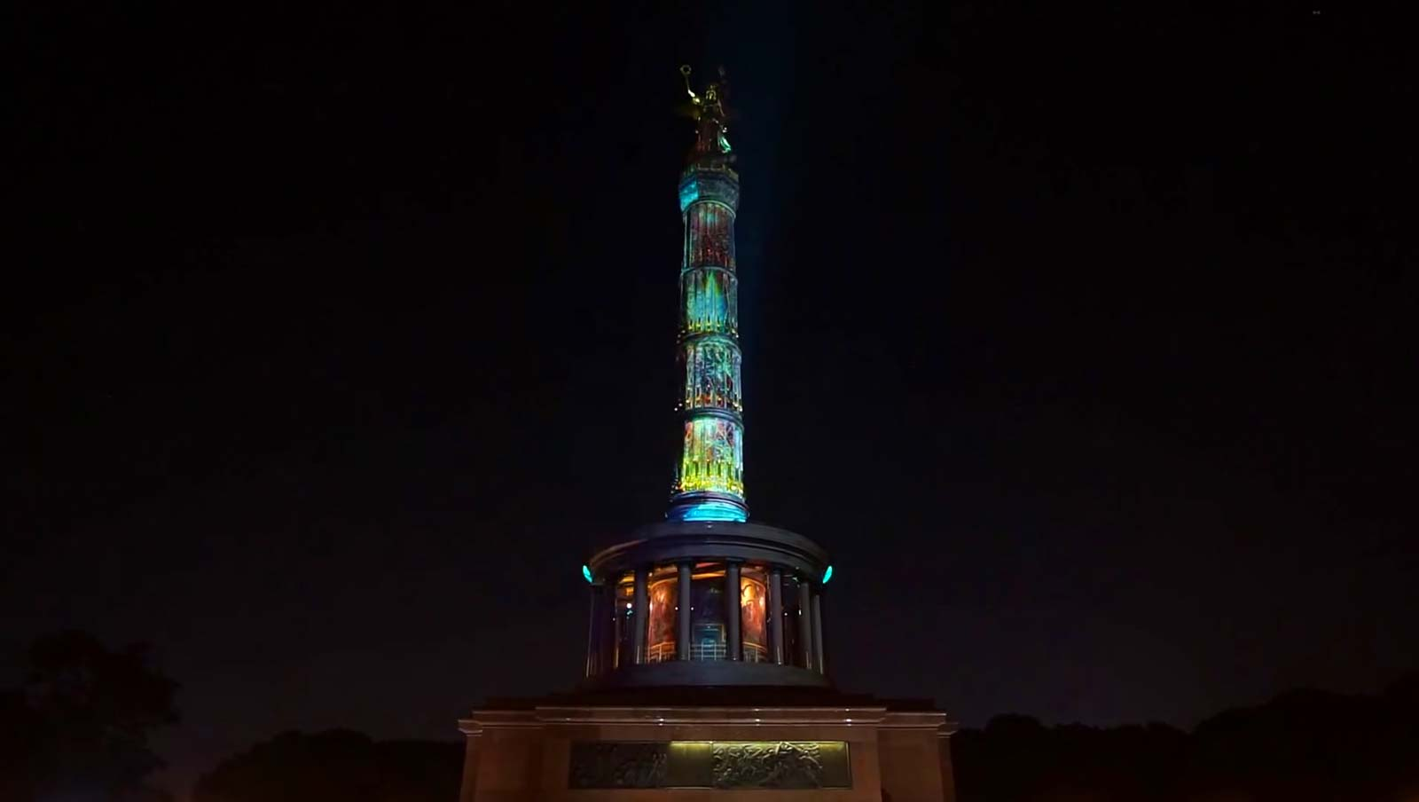 Festival of Lights 2015 Video Projektion Siegessäule