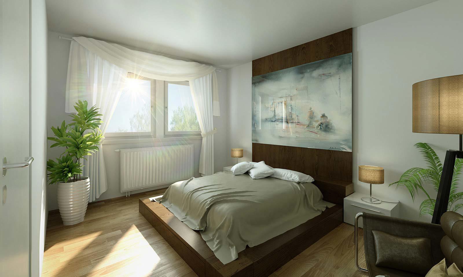 MWG Schlafzimmer - Architekturvisualisierung Innenraum