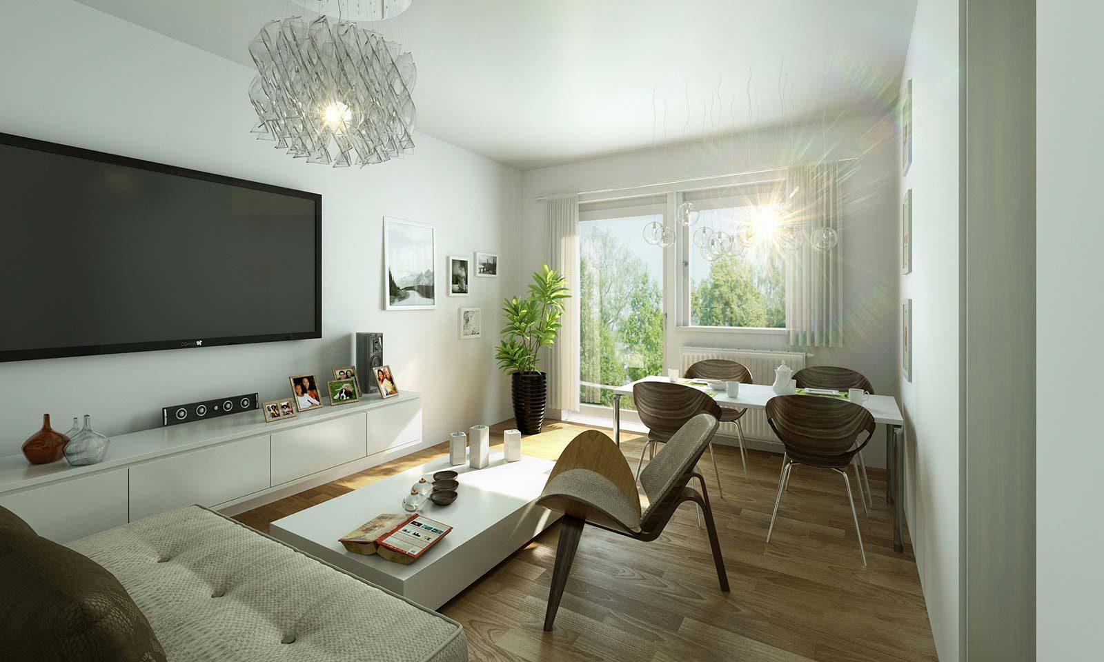 MWG Wohnzimmer - Architekturvisualisierung Innenraum
