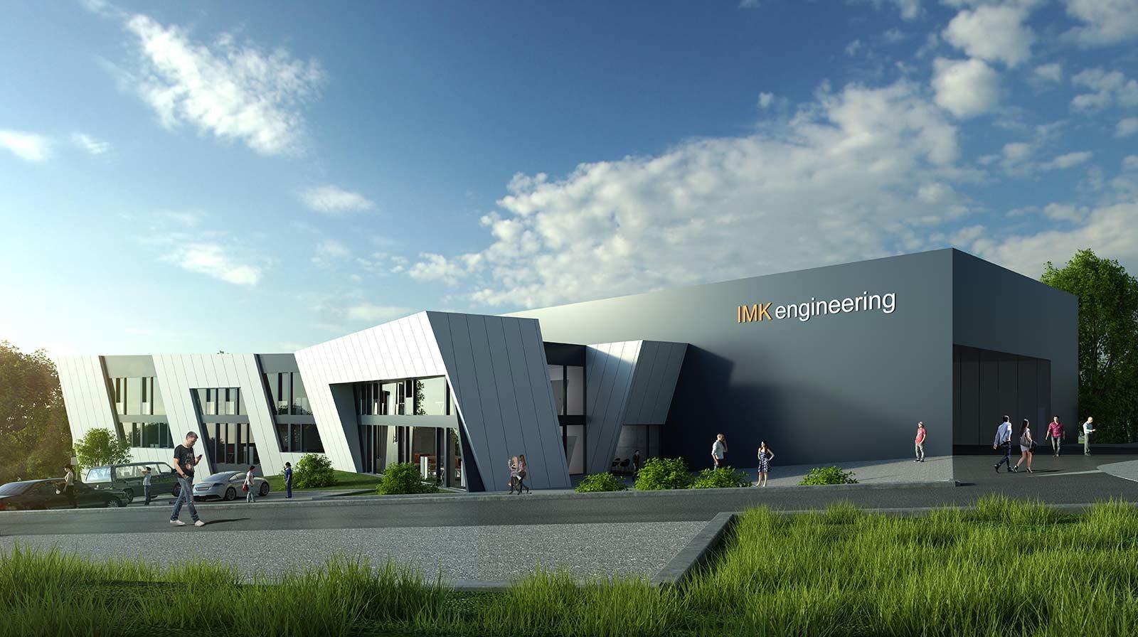 IMK Gebäude - Architekturvisualisierung  Aussen