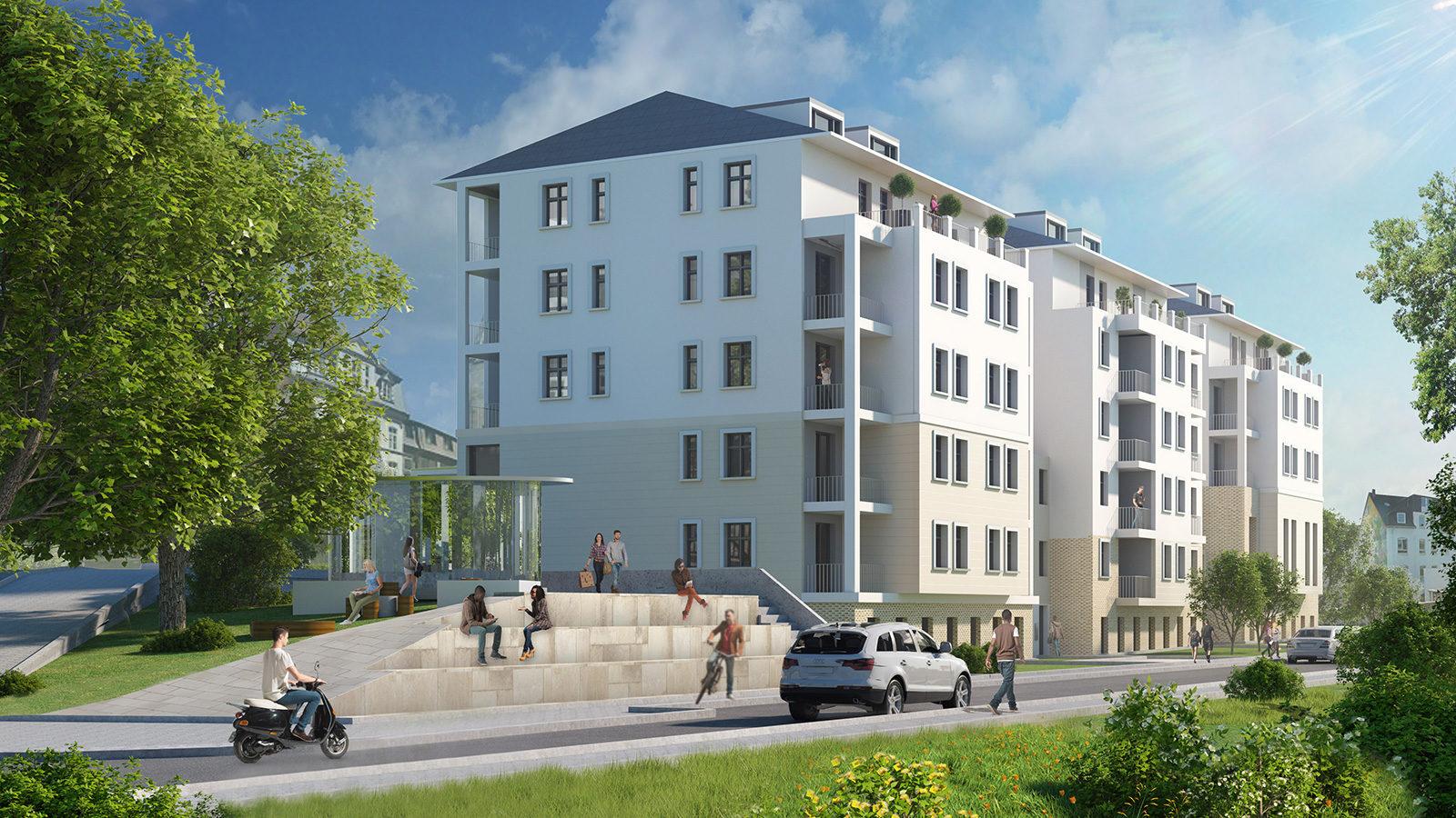 Kaiserhof - Architekturvisualisierung  Aussen