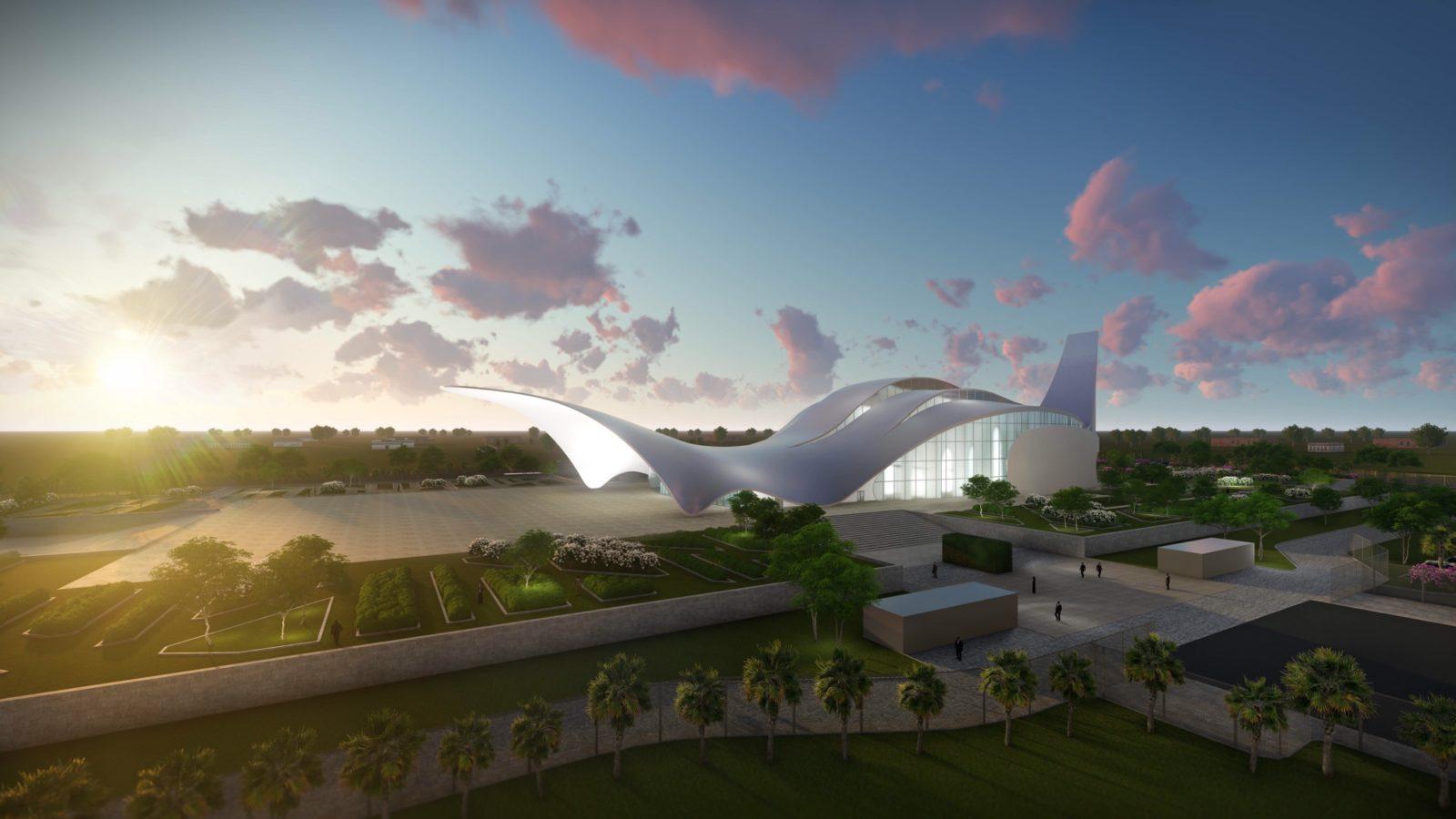 Kirche in Nigeria - Architekturvisualisierung  Aussen