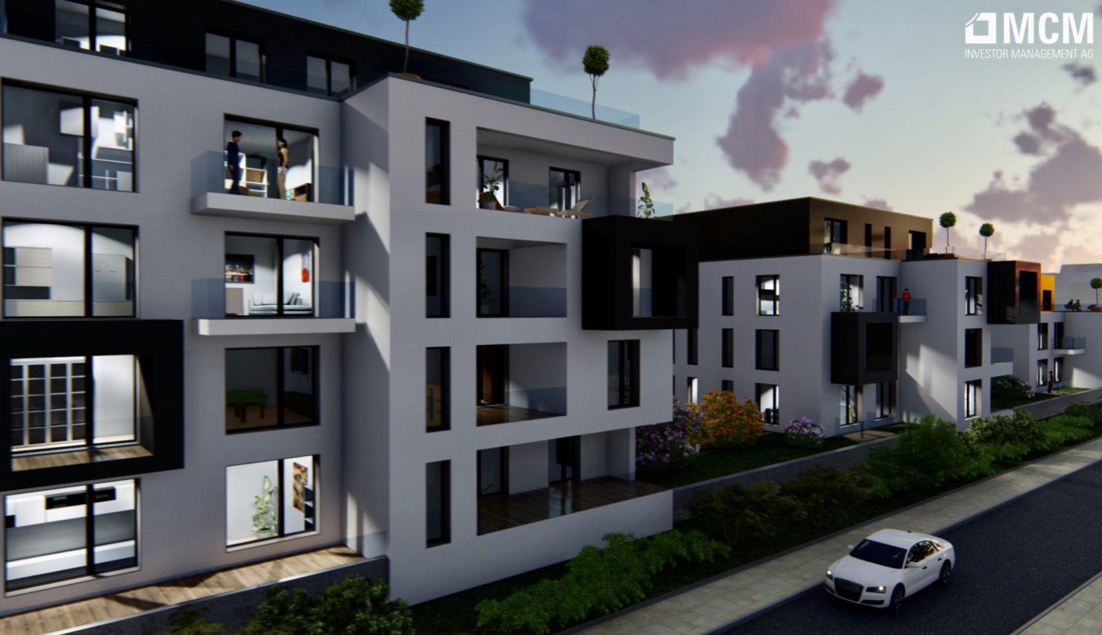 Quartier an der Elbe - Architekturvisualisierung  Aussen