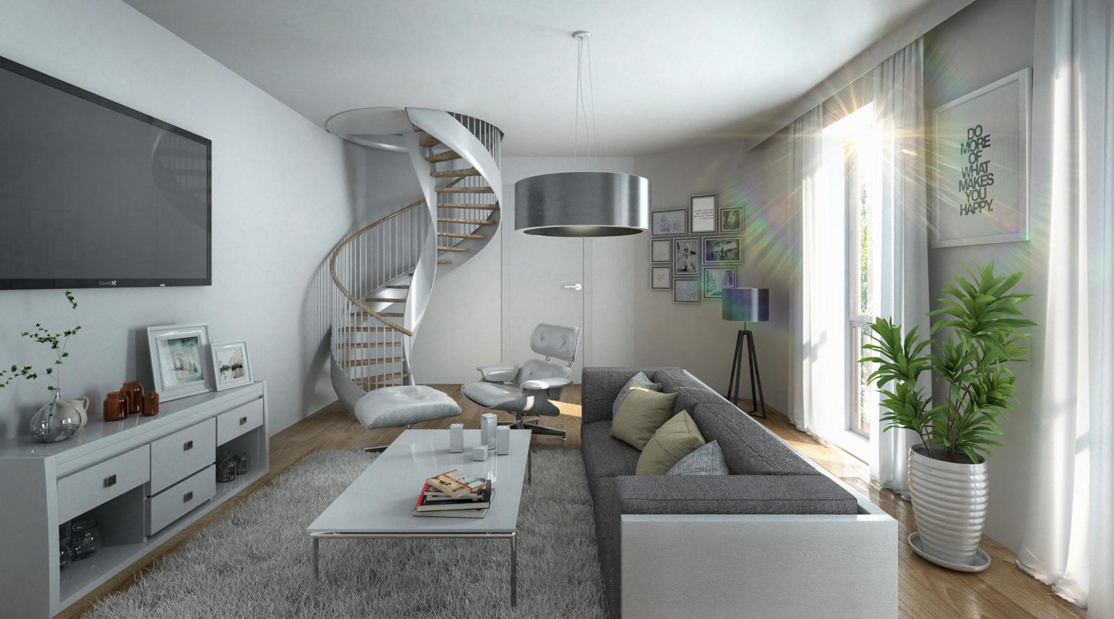 MCM Wohnen - Architekturvisualisierung Innenraum