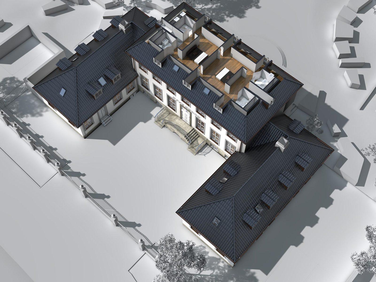 3D Grundriss Villa | in Dänemark