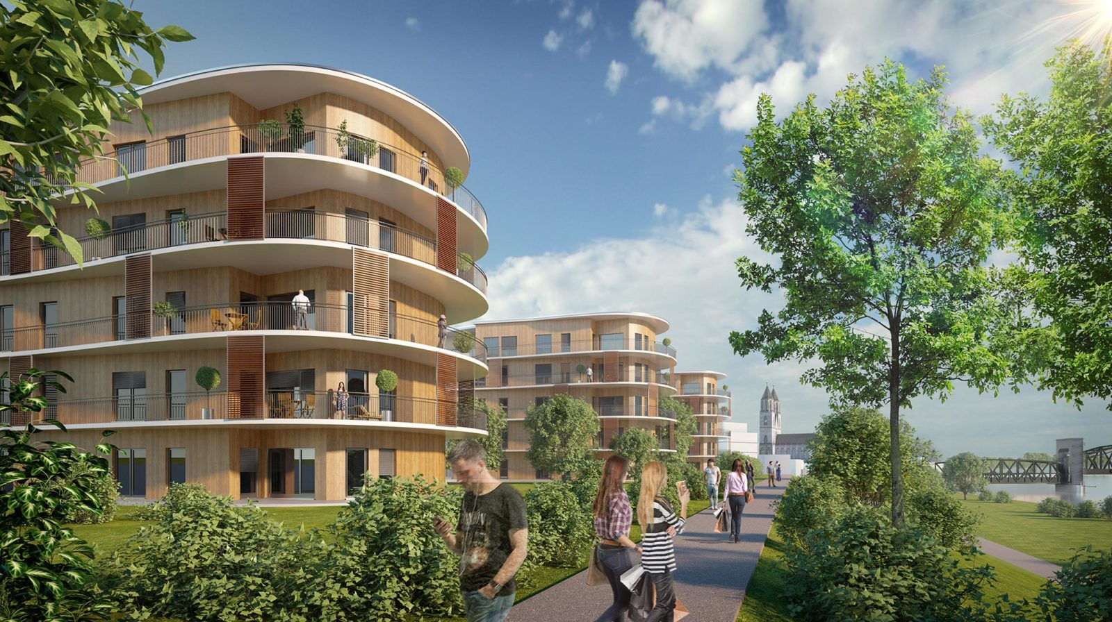 Kavalier an der Elbe - Architekturvisualisierung  Aussen