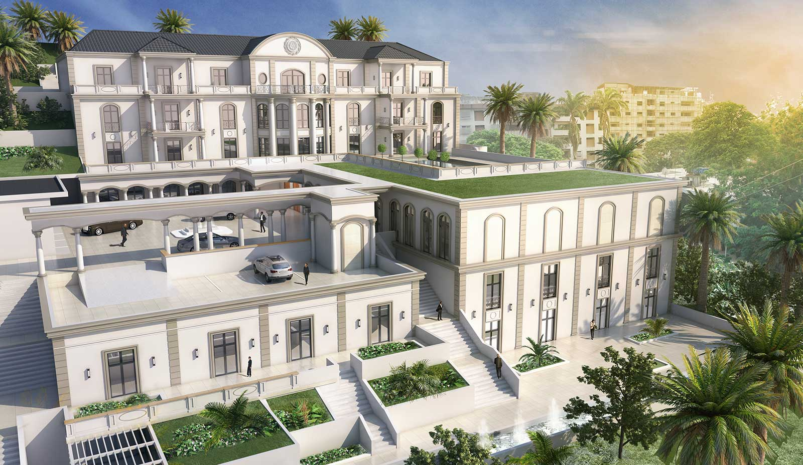 Villa - Architekturvisualisierung  Aussen