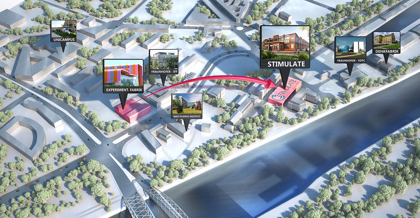 Forschungscampus Stimulate - Architekturvisualisierung  Aussen
