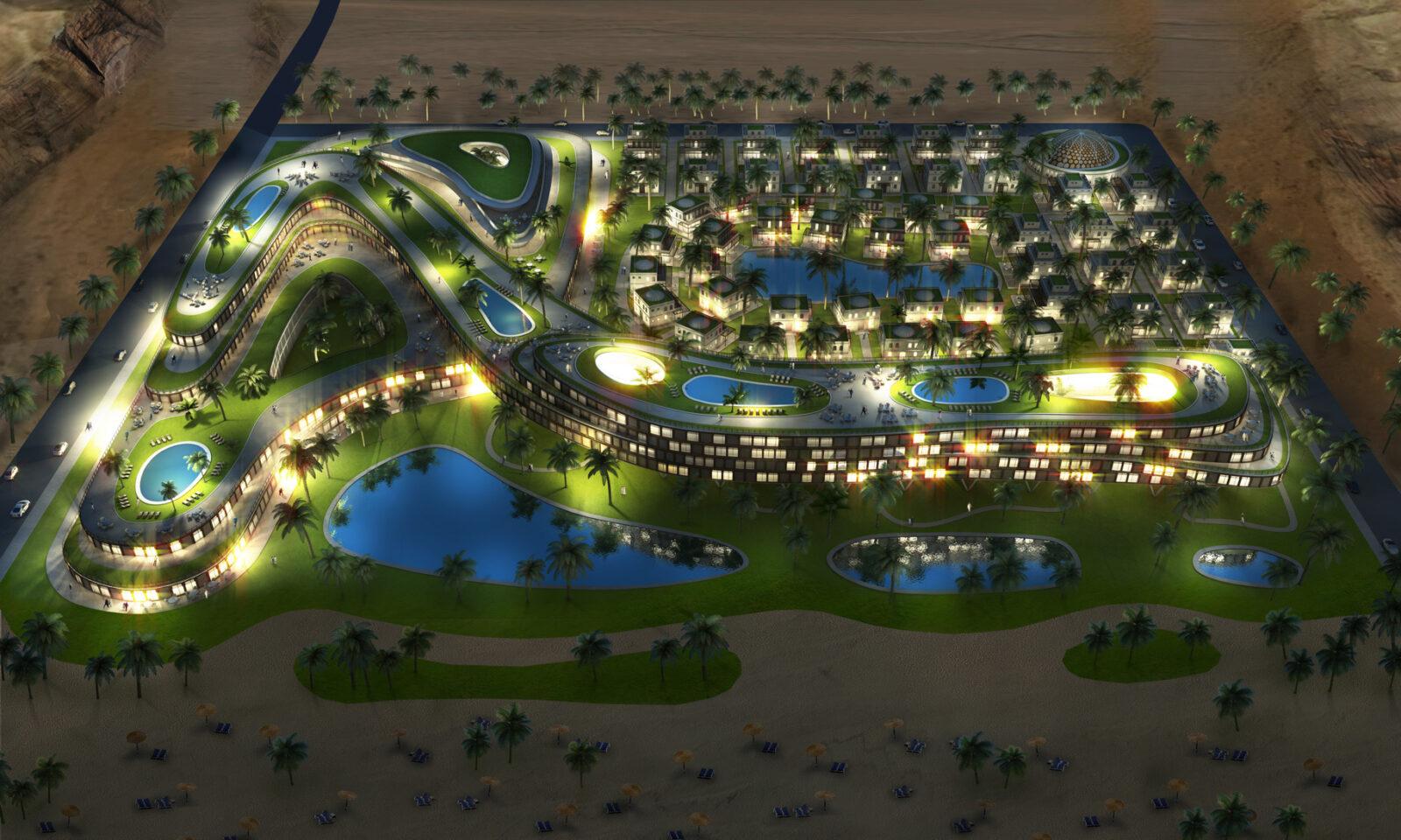Hotel Resort Anlage im Oman